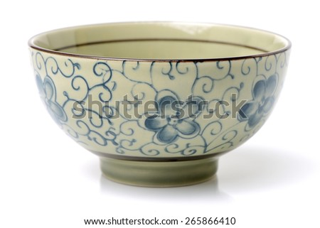 Chinese Bowl on white background