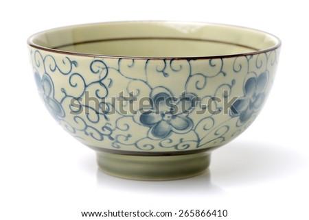 Chinese Bowl on white background - stock photo