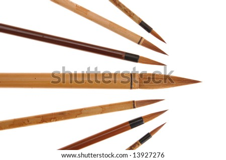 "Chinese brushes (old writing ""pen"" for Chinese, Korean, and Japanese)"