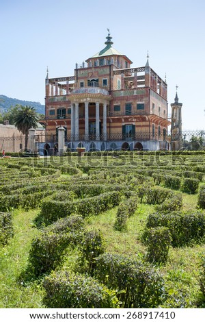 Chinese building in Palermo, Sicily, Italy, Europe - stock photo