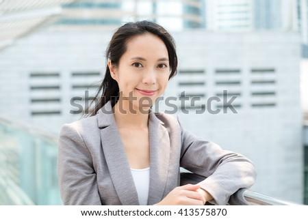 Chinese businesswoma - stock photo