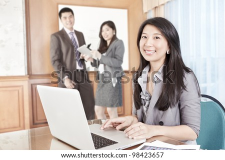 Chinese businesswoman working in the office