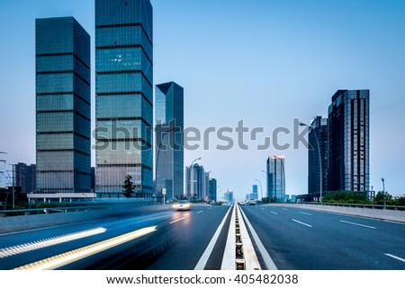 Chinese cities, Shanghai Night - stock photo