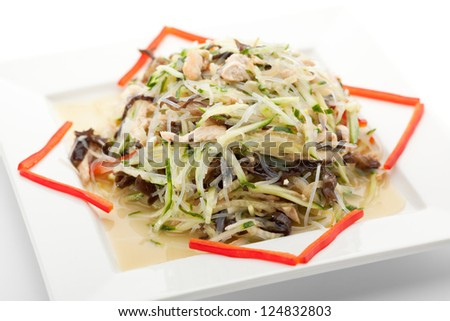 Chinese Cuisine - Freshness Salad with Chicken and Cucumber