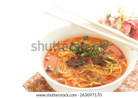 Chinese cuisine, Tan Tan noodle - stock photo