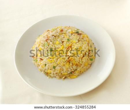 chinese cuisine. yumcha, chinese food. Fried rice  - stock photo