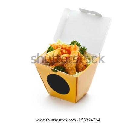 Chinese Deep Fried Shrimp - stock photo