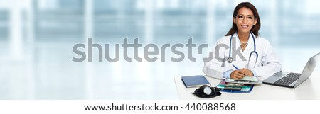 Chinese doctor woman. - stock photo
