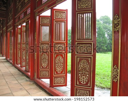 Chinese doors at Imperial palace of Hue Vietnam & Chinese Doors Imperial Palace Hue Vietnam Stock Photo (Edit Now ...