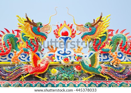 Chinese dragon at a temple