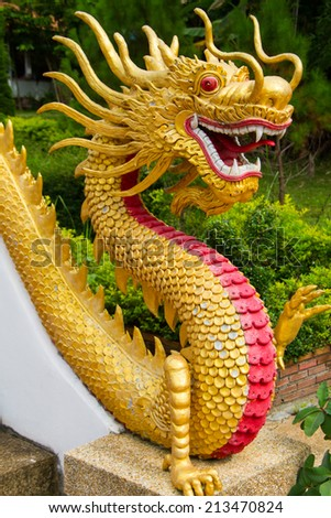 Chinese dragons are legendary creatures in Chinese mythology and Chinese folklore. - stock photo