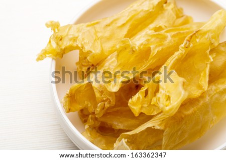 Chinese dried fish maw close up