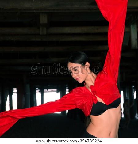 Chinese Female Dancer - stock photo