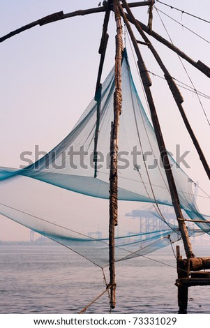 Chinese fishing nets in Fort Cochin, India