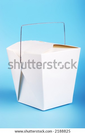 Chinese food container - stock photo