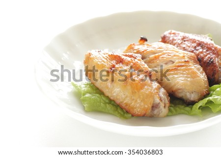 Chinese food, pan fried chicken