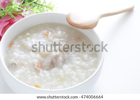 Chinese food, pork congee
