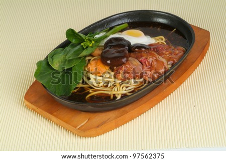 chinese food, sizzling crispy noodle - malaysian food