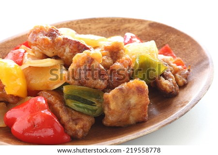 Chinese food, sweet & sour spare rib