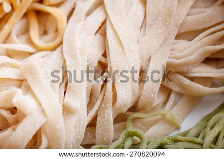 Chinese food, thin egg noodles
