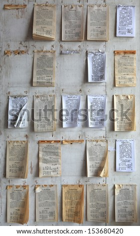 chinese Fortune forcast paper  - stock photo