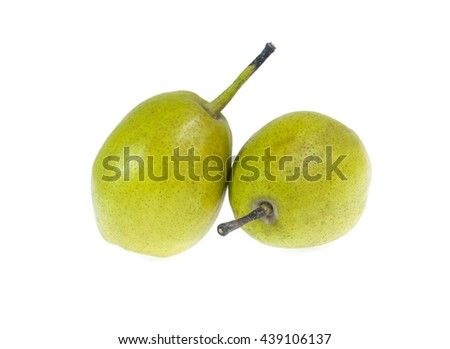 Chinese fragrant pear on white background