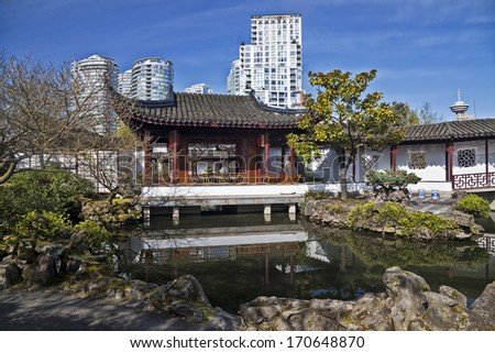 Chinese Garden in Vancouver, British Columbia, Canada - stock photo