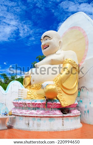 Chinese god of wealth, prosperity and happiness. - stock photo