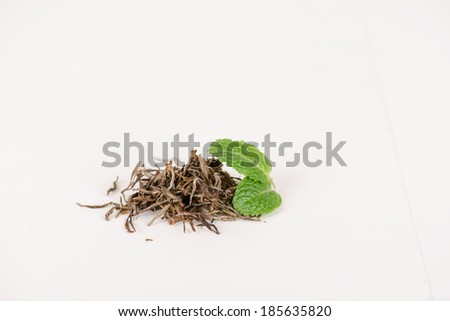 chinese green teas - stock photo