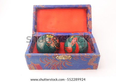 chinese health balls in box
