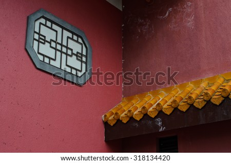 Chinese house in Hong Kong - stock photo