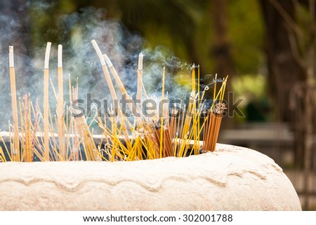 Chinese incense pot - stock photo