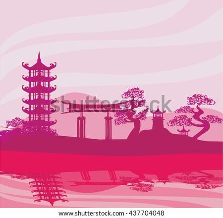 Chinese landscape - stock photo