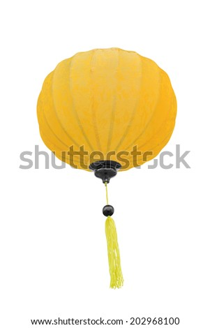 Chinese lantern light, isolated over white background  - stock photo