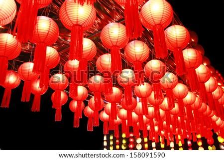 Chinese lanterns. - stock photo