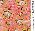 Chinese Lotus Blossom Background. Chinese New Year - stock photo