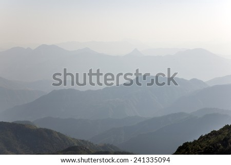 Chinese mountain scenery