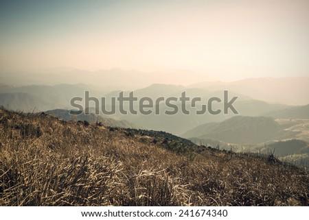 Chinese mountain scenery - stock photo