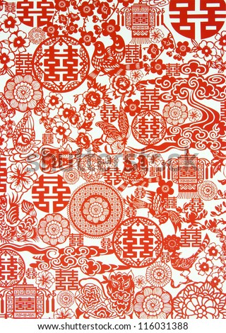 Chinese New Year Background - stock photo