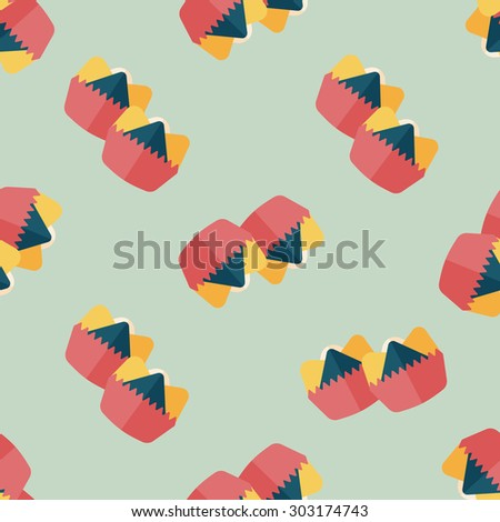 Chinese New Year flat icon,,Chinese steam seamless pattern background