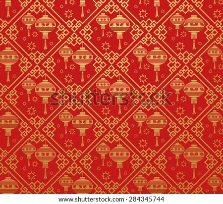 Chinese new year modern texture geometric tiles wallpaper pattern background in retro style for your design - stock photo