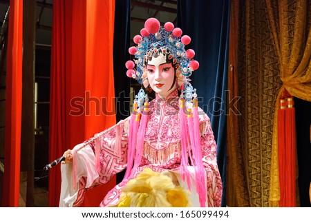 Chinese opera dummy actor / actress - stock photo