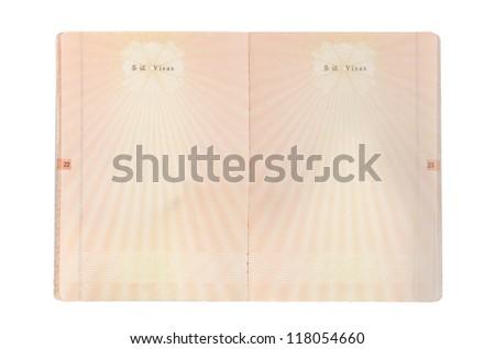 Chinese passport - stock photo