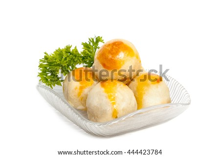 Chinese Pastry or Moon cake,Asian Traditional Dessert - stock photo