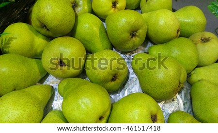 Chinese pears in local fruit market of Thailand