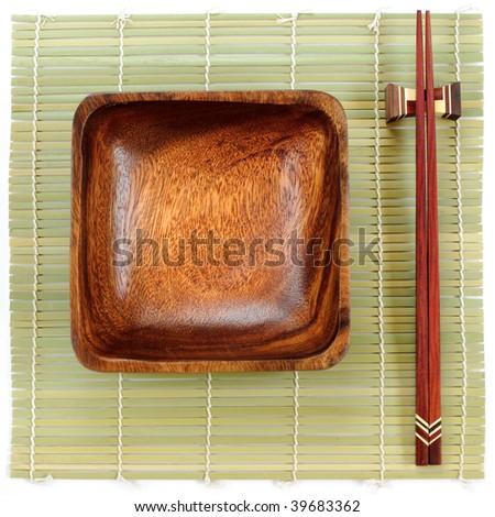 Chinese plate - stock photo
