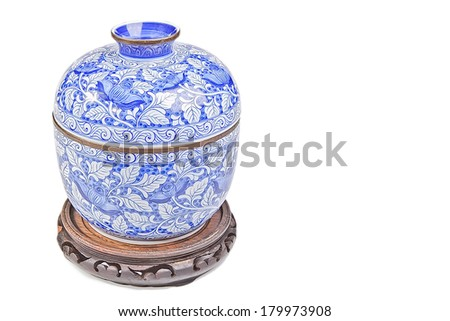Chinese porcelain isolated on white