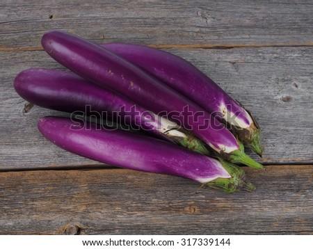 Chinese purple eggplant  - stock photo