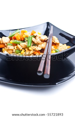 Chinese recipe using chicken and vegetables