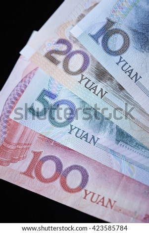 Chinese RMB bills - stock photo